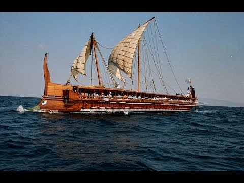 "Ancient Athenian Trireme ""Olympias"" rowing sea trials 2016"