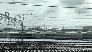 「かがやき」号が車両着雪状況確認の為に糸魚川駅へ臨時停車!