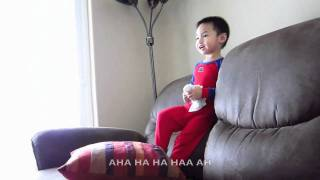 2-year-old sings Spectacular Spiderman Theme Song