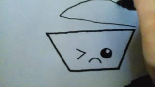 Como dibujar una olla kawaii /How to draw a kawaii pot  dibujos fciles #5