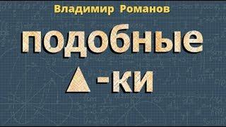 геометрия ПОДОБНЫЕ ТРЕУГОЛЬНИКИ коэффициент подобия 8 класс
