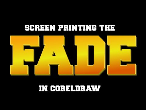 Coreldraw -How to Create Fades for Screen Printing in Halftones