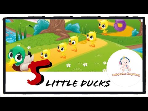 5 Little Ducks Song (With Lyrics) - Sing Along and Learn To Count Numbers