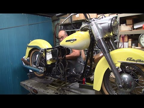 1965 panhead #101 74ci flh motor rebuild and bike repair harley by tatro machine
