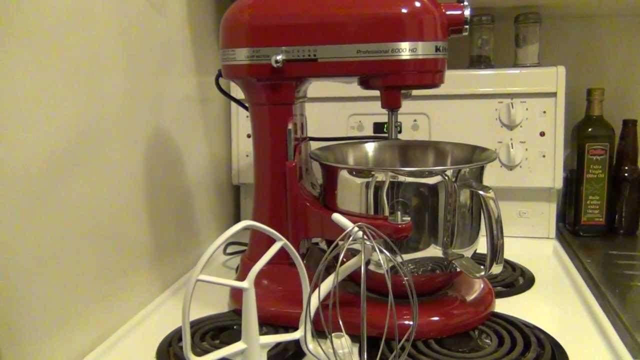 Kitchen Aid 6000 Hd Cabinet Design App Kitchenaid 1 0hp 6 Quart Professional Series Stand Mixer Youtube