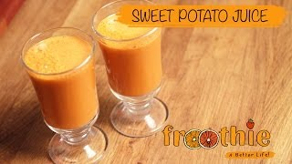 Sweet Potato Juice on Getting into Raw cooking with Zane