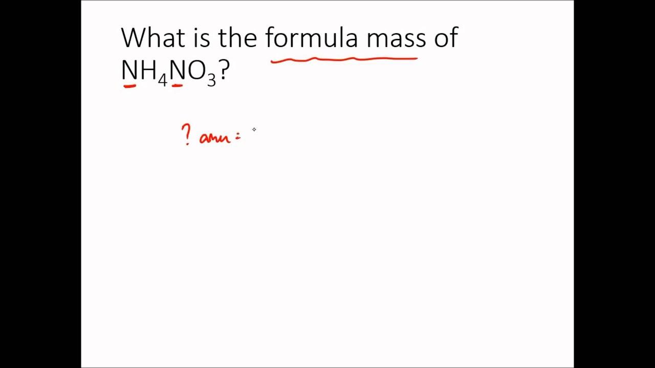 Molecular Mass And Formula Mass Examples Youtube