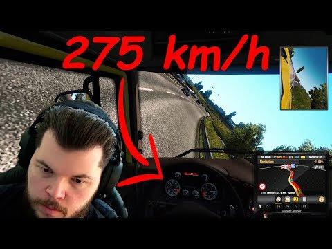 Polski testar Euro Truck Simulator 2 | Snabbaste jag spelat
