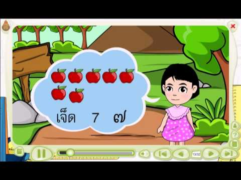 สื่อการเรียนรู้ วิชาคณิตศาสตร์ ชั้น ป.1  เรื่อง จำนวน 6 และ 7