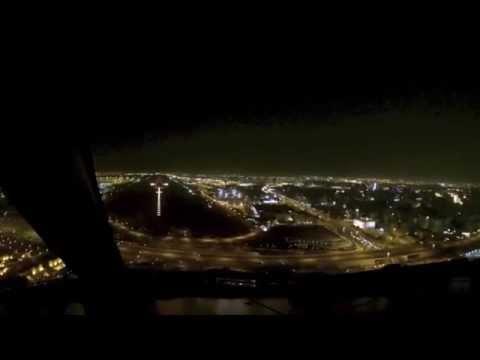 Approach to runway 15 at Doha, Qatar