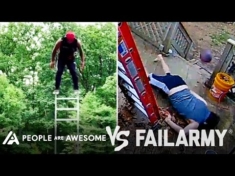 Man Vs Ladder  … Ouch! | People Are Awesome Vs. FailArmy