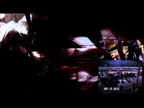 Jake Simpson Crash Algona Raceway 9-15-2012