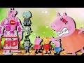 Download Desenho da Peppa Pig e George aprontam com robo gigante Mamãe pig com raiva do Zumbi  #FUB