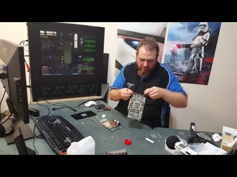 AMD R9 Fury X EK WaterBlock And Backplate Installation