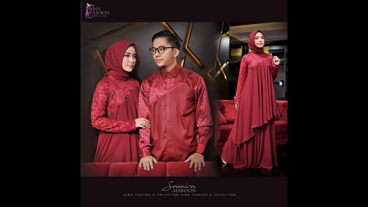 4 Model Baju Pesta Muslim Brokat Modern 2018 2019 Youtube