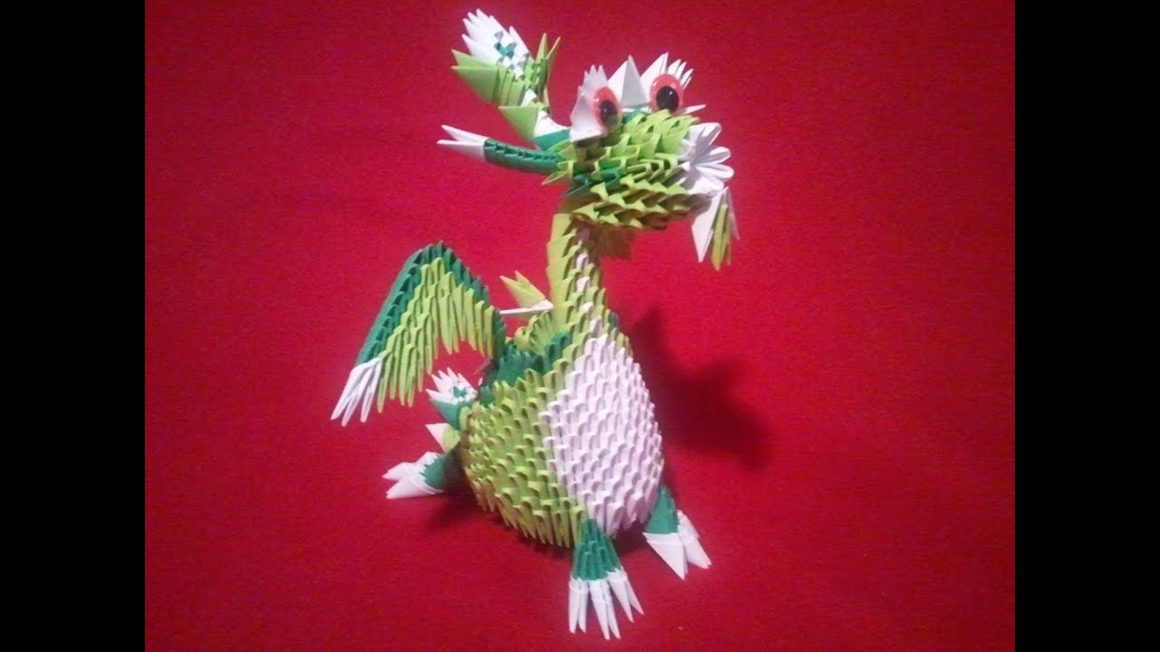 3d Origami dragon (dinosaur) - YouTube - photo#30