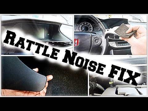DIY 9thgen Honda Accord Interior Rattle Noise Fix - DiyCarModz