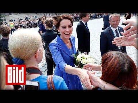 Prinz William und Herzogin Kate am Brandenburger Tor in Berlin