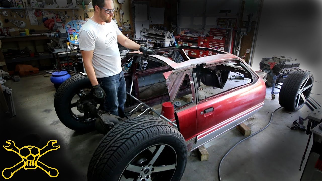 tube chassis work on the mustang hot rod build [ 1280 x 720 Pixel ]