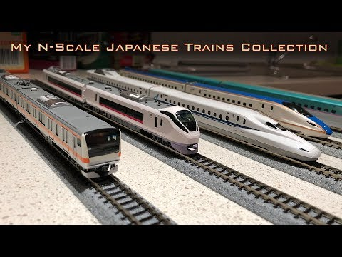 My KATO N-scale Japanese trains collection Shinkansen Limited Express and commuters
