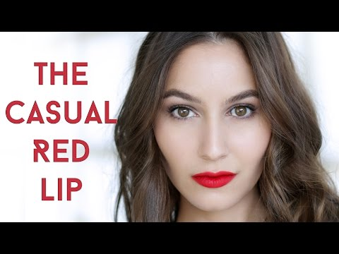 Everyday Casual Red Lip Makeup Tutorial