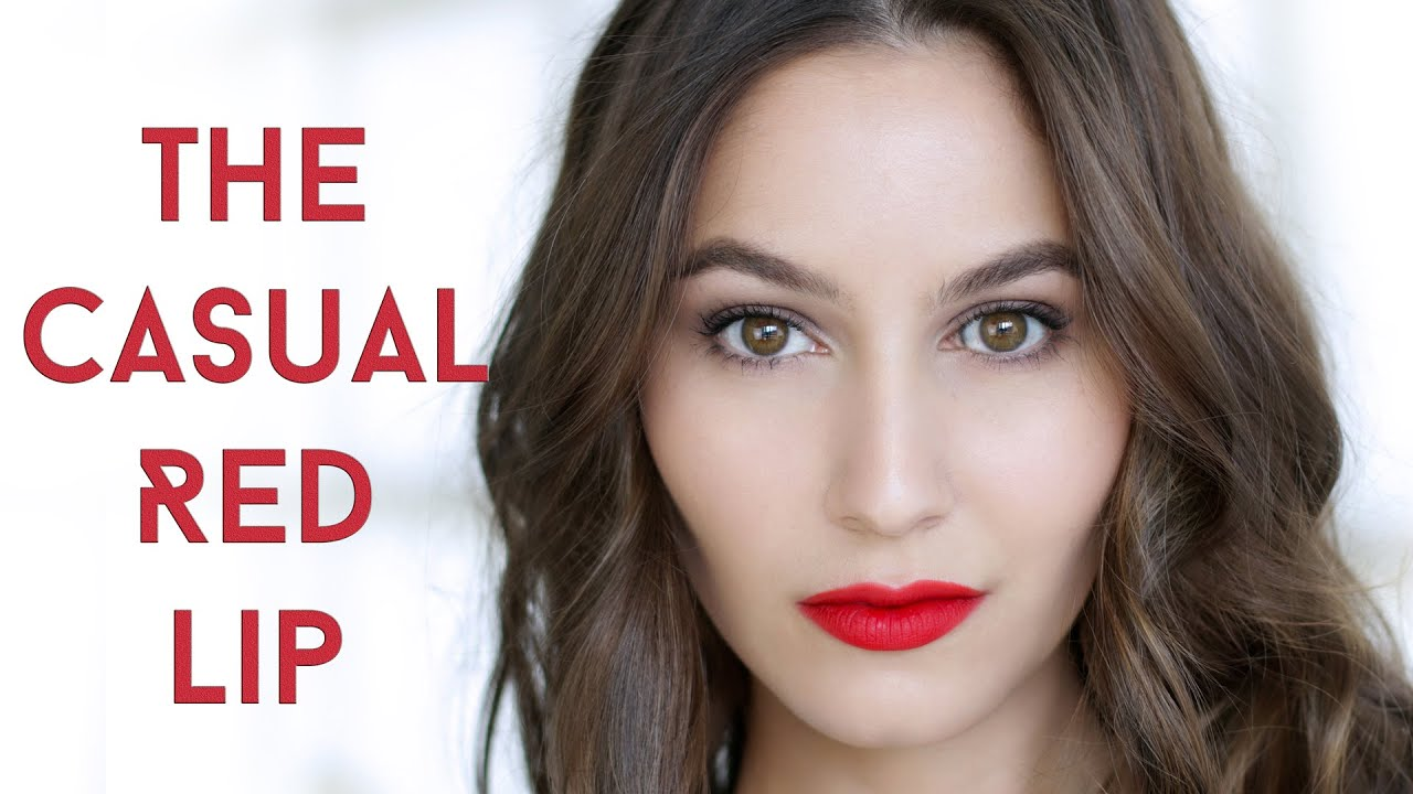 Everyday Casual Red Lip Makeup Tutorial Youtube