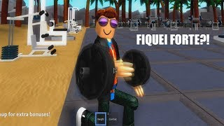 ROBLOX: I WENT TO THE ACADEMY AND MALHEI A LOT. I WAS FAST AND STRONG! (Weight Lifting Simulator 2)