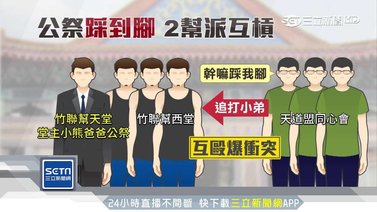 竹聯堂主父公祭2幫派互毆 警舉槍壓制│三立新聞臺 - YouTube