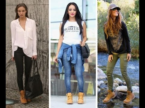 96a214d7dcc4 👢 OUTFITS HERMOSOS CON BOTAS TIMBERLAND - YouTube