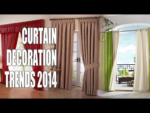 Curtain decoration trends 2014 youtube for Latest trends in curtains