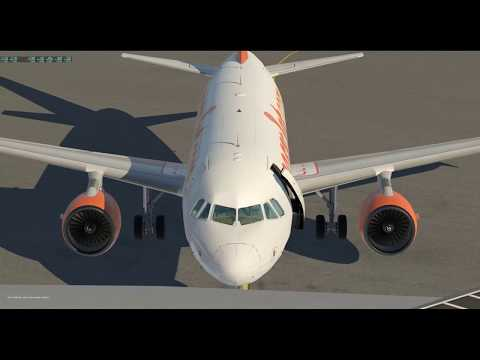 [X-Plane 11] ToLiSs A319 - Quick discovery flight (live replay)