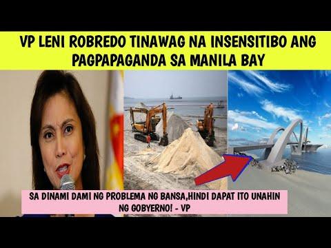 VP LENI ROBREDO TINAWAG NA INSENSITIBO ANG  PAGPAPAGANDA SA MANILA BAY| KONTRA SI VP!