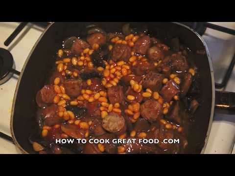 Sausage Potato Hotpot Recipe With Baked Beans - Easy Dinner - Cooking On A Budget - Casserole