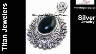 925 Sterling Silver Natural Black Onyx Gemstones Handmade Jewelry