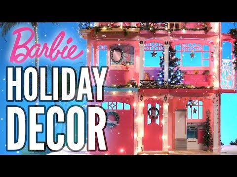 Barbie® Dreamhouse Holiday Decorating Music Video | Barbie