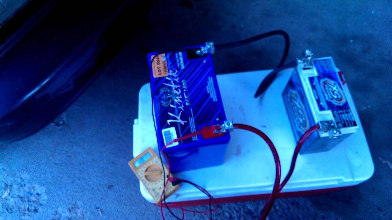 Como conectar 2 bater as para car audio youtube - Bateria para casa ...