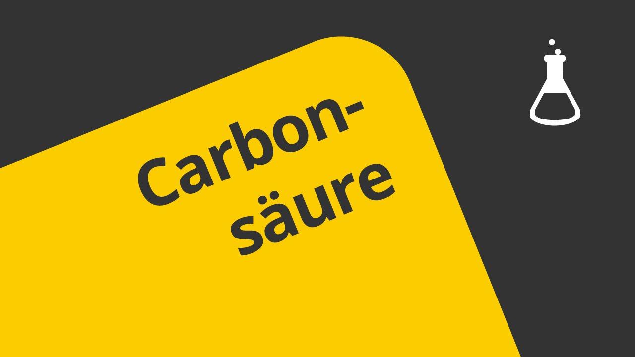 Carbonsäuren Eigenschaften