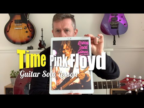 Time - Pink Floyd David Gilmour Guitar Solo Lesson (Guitar Tab)