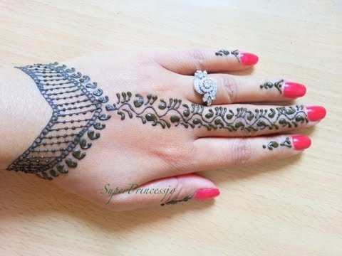 How To Make Henna Mehendi Designs ,Learn Henna ,Lesson1 SuperPrincessjo