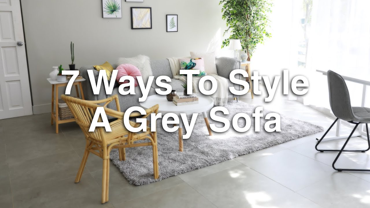 7 Ways To Style A Grey Sofa Mf Home Tv Youtube