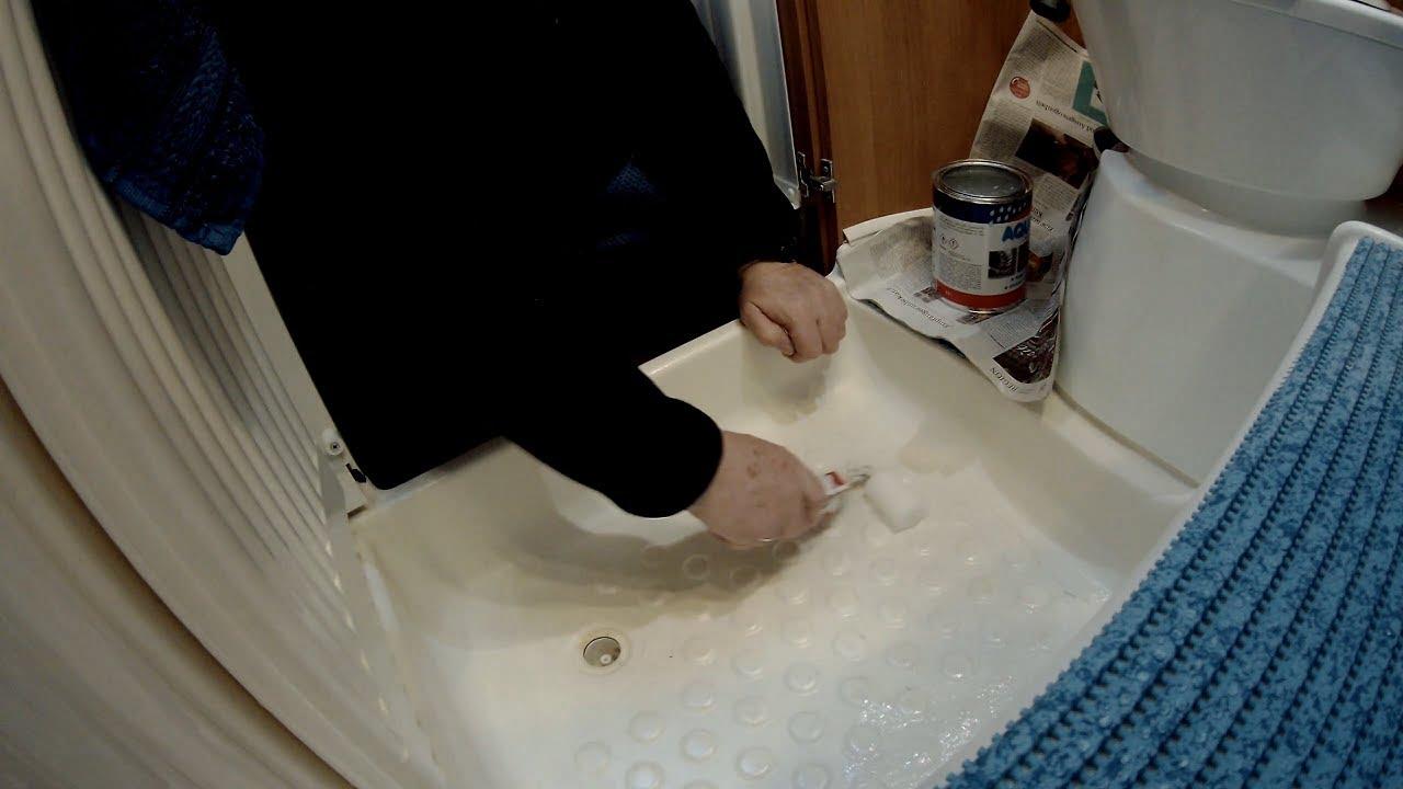Sanierung unserer Duschwanne im Wohnmobil