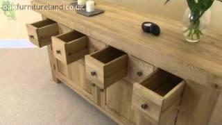 Nero Solid Oak Sideboard From Oak Furniture Land
