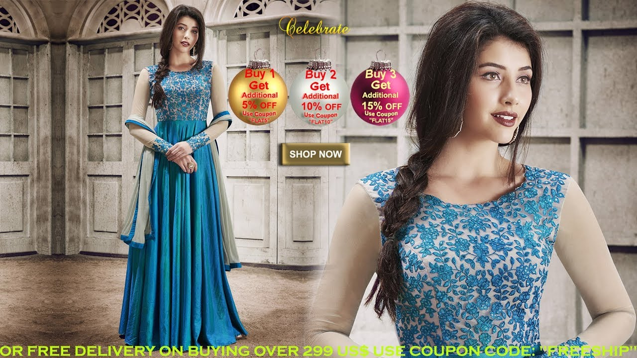 c9a1b3df66749 Indo Western Designer women's Party Wear Clothes: Indian Ladies Dresses &  Salwar Suits Online India