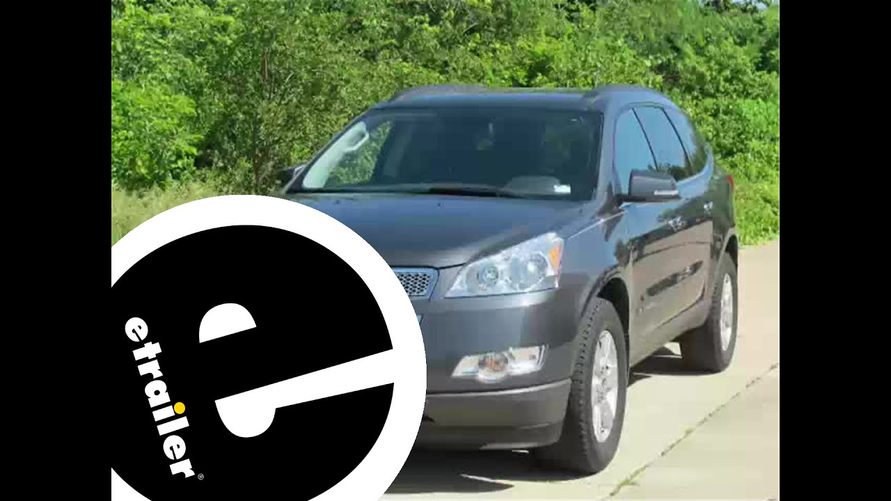Installation of a Trailer Hitch on a 2009 Chevrolet Traverse - etrailer.com - YouTube