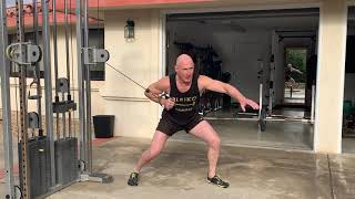 The Single Arm Cable Push with Weight Shift