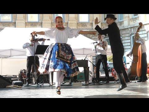 The beautiful Hungarian dance