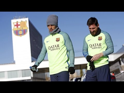 FC Barcelona training session: Ready for Las Palmas