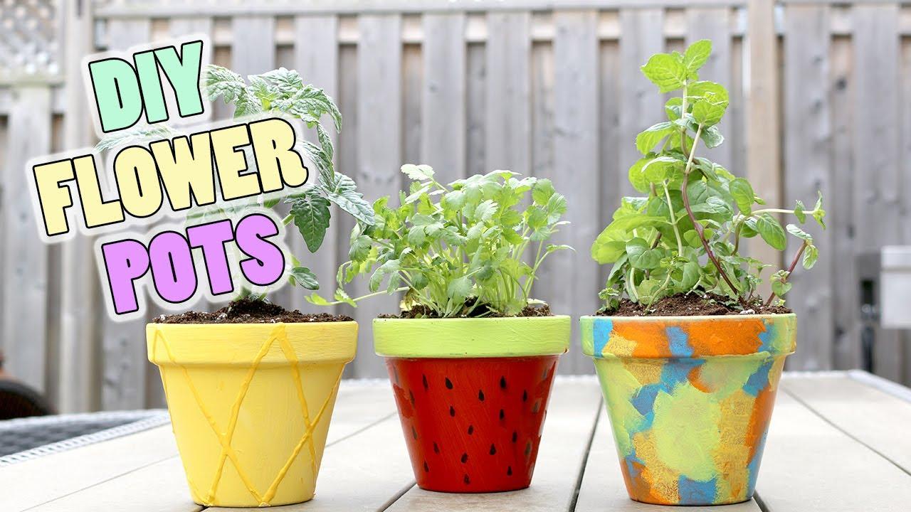 DIY Dollar Store Fruit U0026 Unicorn Flower Pots | Pineapple, Watermelon,  Unicorn Design