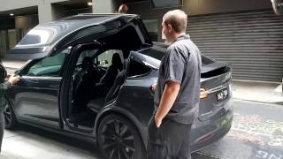 Test Driving the Tesla Model X P90 D in Brisbane