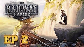 Railway Empire Ep 2 Прокладываем Пути и развозим Людей